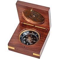 Brújula con calendario de 100 años latón marítimo navegación decoración