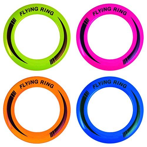 Henbrandt the Harlequin Brand 4X Wurfring Neon Flying Ring Frisbee ca.25 cm Jonglierringe Ringspiel Wurfspiel