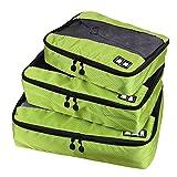 Bagages-Sacs-demballage-Cube-de-voyage-small-large-Accessoires-pour-cabine-bagages-Valise-et-randonne--Durable-3-pices-Week-end-vert-Vert-562778