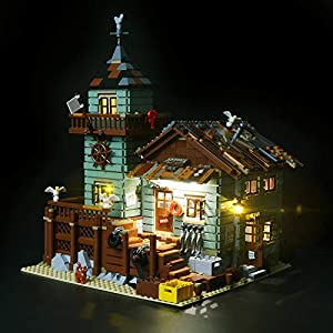 Briksmax Vecchio Negozio dei Pescatori Kit di Illuminazione a Led- Compatibile con il Modello Lego 21310 Mattoncini da…  LEGO
