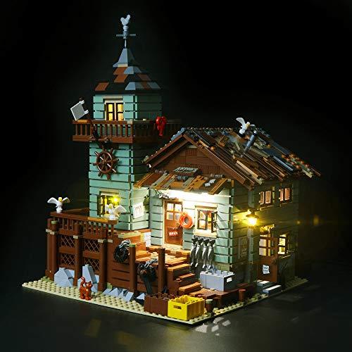 BRIKSMAX Kit de LED pour Ancien Magasin des pêcheurs, Compatible avec la Maquette Lego 21310. La Maquette de Construction n'est Pas Incluse