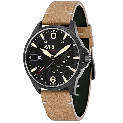 Hawker Harrier II AV-4055-04 Men's Watch – AVI-8 – Leather – 42 mm