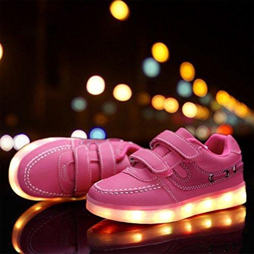 (Present:kleines Handtuch)JUNGLEST® 7 Farbe USB Aufladen LED Leuchtend Sport Schuhe Sportschuhe High Top Sneaker Turnschuhe für Unisex-Erwa c19 3vWhu8
