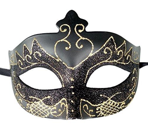 Da donna mascherata maschera annata veneziano partito maschera decorativo mardi gras maschera (c nero)