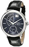 Rotary Men's Quartz Watch with Blue Dial Analogue Display and Black Leather Strap GS90085/05