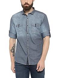 SHOWOFF Mens NavyBlue Printed Casual Shirts