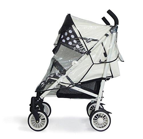Universal-Regenschutz - Größe XL - fuer Kinderwagen-Buggy-Kinderwagen Regen-Abdeckung passt Hunderte von Modellen by DELIAWINTERFEL