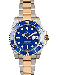 Rolex Submariner Steel and Yellow Gold Watch Blue Dial 116613