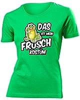 Karnevalskostüm - Faschingskostüm - Halloween - Das ist mein Frosch Kostüm T-Shirt Damen S-XXL - Deluxe