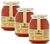 Eukalyptushonig aus Spanien - Premium Qualität - reines Naturprodukt - kaltgeschleudert- würzigen bis milden Geschmack aus Blütennektar- 3 x 1 Kg Glas, Größe:1000 ml, Geschmack:Eukalyptus