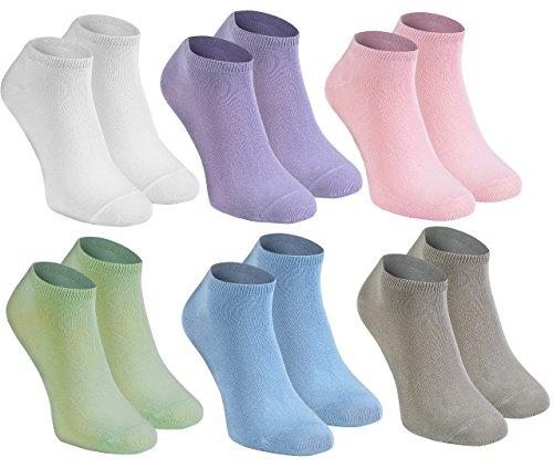 Sneaker BAMBUSSOCKEN by Antibakteriell, Atmend, KURZE Socken aus Bambus MULTIPACK| WEIß VIOLETT ROSA PISTAZIE BLAU BEIGE Größen 36-38, Herstellung in Europa ()