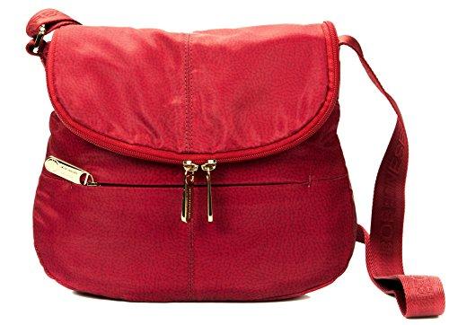 Borsa Borbonese TRACOLLA SMALL IN JET O.P DETTAGLI CUOIO Rosso Women Bag