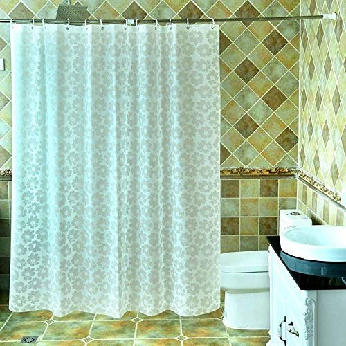 RSJL Wasserdichter Duschvorhang, Badezimmer Verdickung Duschvorhang \\ Mildew Partition Duschvorhang \\ Peva Duschvorhang (optionale Größe), formbeständiges Bad Duschvorhang,180 * 180CM - Klar Vorhang Dusche Liner