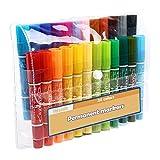 MyLifeUNIT Couleurs marqueurs de stylos, double pointe biseautée point marqueurs permanents, couleurs assorties 122 x 6.7 mm 24 Colors