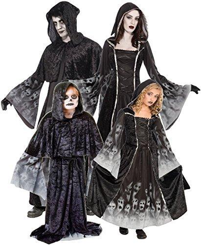 Familie Herren Damen Kinder Sensenmann Soul Eater Halloween Mama Papa Sohn passend Horror Gruppe Kostüm Kleid (Halloween Kostüme Papa)