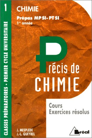 Chimie : MPSI, PTSI