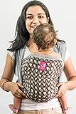 Anmol Baby Carriers - Daabu Chevron Grey- Hybrid Wrap