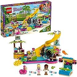 LEGO®-Friends La soirée piscine d'Andréa Jouet pour Fille et Garçon à Partir de 6 Ans et Plus, 468 Pièces 41374