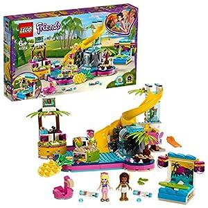 LEGO Friends LafestainPiscinadiAndrea con le Mini-doll di Andrea eStephanie,Postazione DJ, Acquario e Pesce, 41374 5702016370188 LEGO