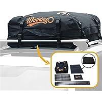 Sac de fret,Winningo sac de fret résistant à l'eau facile à installer les porte-bagages doux sur le toit fonctionne avec ou sans support de toit, natte protectrice libre (BLACK)