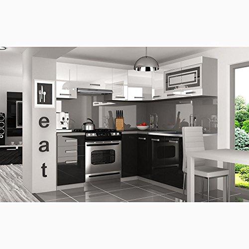 JUSThome Lidja L Pro L-Küche Küchenzeile Küchenblock 190×170 cm Länge große Farbauswahl