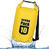 Zhaoyun Sacchi impermeabili galleggianti sacco /30L Borsa Impermeabile Sacco Dry Ba asciutto per andare in barca, kayak, escursionismo, snowboard, campeggio, rafting, pesca e zaino in spalla,Giallo