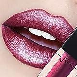 CICIYONER Damen Metall Lippenstift Lip Gloss Liquid Lippe Kosmetik, 24 Farben (21 #)