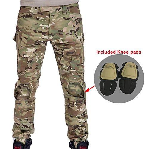 Herren Shooting BDU Combat Hose Hose mit Knie Pads Multicam MC für Tactical Military Armee Airsoft Paintball, Multicam