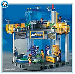 Playmobil - 3886 - Aéroport et hall d'embarquement