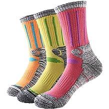 YOKIRIN 3Par Calcetines Esquí Mujer Calcetines Termicos Mantiene Calor durante los ejercicios- Talla 35-39