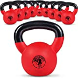 Gorilla Sports Kettlebell Red Rubber 4 kg -...