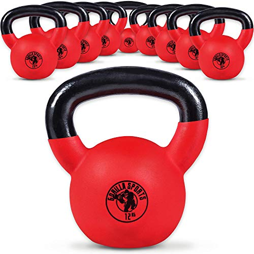 Zoom IMG-1 gorilla sports kettlebell red rubber