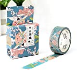 XIAOXINYUAN 5 Pz/Lotto 15Mm * 7M Carino Kawaii Fiori Cartoon Washi Mascheratura Nastro Adesivo Decorativo Decor Nastro Diy Adesivo Libro V