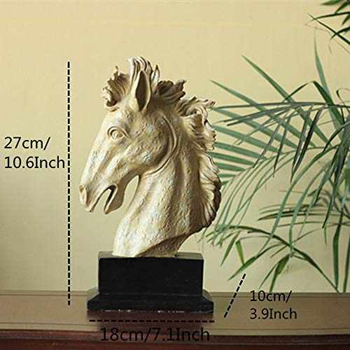 BANDNEY Harz Pferdekopf Figuren Tier Ornamente Dekoration Handwerk Geschenk -
