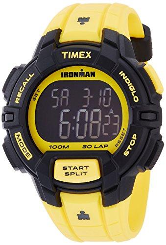 Timex Ironman 30-Lap Rugged Resin Strap Chronograph Watch - Yellow (Timex Zurück)