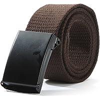 Ducomi® Easy Belt - Cintura in Cotone Regolabile con Fibbia Classica - Tagliabile e Accorciabile ( Fino a Misura Pantaloni 54 EU)