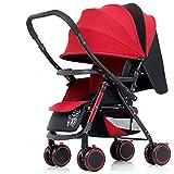 Kinderwagen, Baby Sport Leicht Von Geburt Kinderwagen Baby Kinderwagen Kinderwagen Buggy Kinderwagen (Farbe : Red)