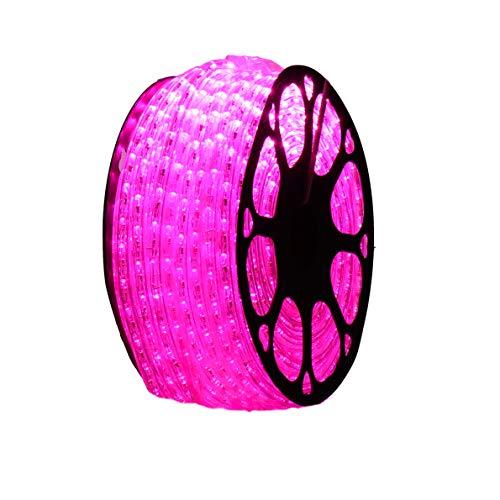 LED-Außen-Schnur IP65 0,5m 220V Spule 50m Rosa - 1/2 Spule