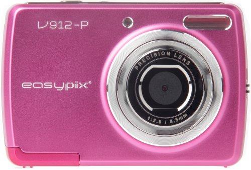 Easypix V912 Groovy Digitallkamera (9 Megapixel, 8-fach digitaler Zoom, 6,9cm (2,7 Zoll) Display) pink