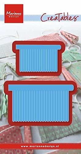 Marianne Design Creatables Fransen, trendy - Stanzschablone und Prägeschablone für die Kartengestaltung und Scrapbooking, Metal, Blue, 5 x 3 x 0.4 cm