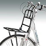Front-Gepäckträger in schwarz für Fahrräder mit 24