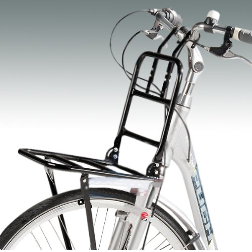 """Front-Gepäckträger in schwarz für Fahrräder mit 24"""" bis 28"""" Radgröße, Montage vorne"""