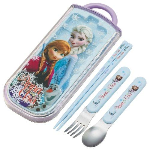 Disney Frozen Cutlery Set for Kids (Fork,Spoon and Chopsticks) Portable Tableware /Dinnerware /Travel Tableware (Japan Import)