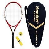 Senston alluminio Racchetta da tennis, Racchetta da tennis per adulti, tra cui tennis Bag e 1 Overgrip (colore casuale) e 1 ammortizzatore di vibrazioni (colore casuale)