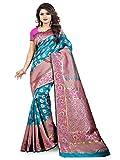 aksh fashion Women's Self Design Woven Kanjivaram Cotton Silk Banarasi Saree with Blouse (Multicolour, Free Size)