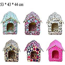 YOMMY® Casa Acolchada Caseta Cama para Mascotas Perros Gatos Colores se envían al azar 53 * 43 * 44 cm YM-1264 (L)