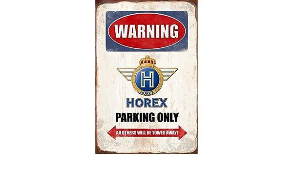 Blechschild 30 x 20 cm Warning Horex Parking Only