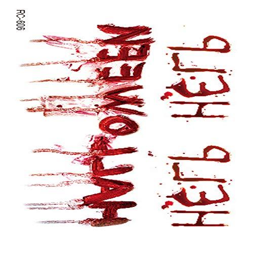 adgkitb Halloween Requisiten Atmosphäre Horror Tattoo Aufkleber Verwundete realistische Blutnarben Tattoo Tattoo 30 10,5x6cm