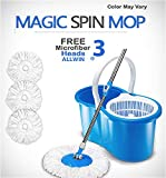 ALLWIN's Home Cleaning 360° Spin Floor Cleaning Easy Advance Tech Bucket PVC Mop