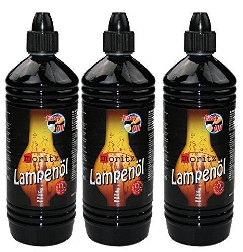 Moritz Lampenöl für Öllampen Bambusfackeln Gartenfackel und Wandfackeln - Wählen Sie 1/3/6/12/24 Liter (3 Liter)